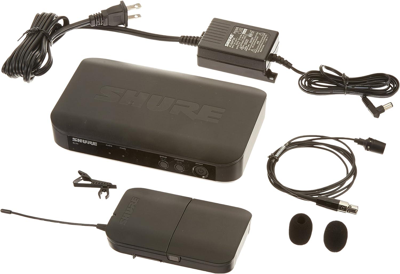Shure BLX14E//CVL-T11 Sistema de micr/ófono inal/ámbrico con petaca y micr/ófono CVL Lavalier