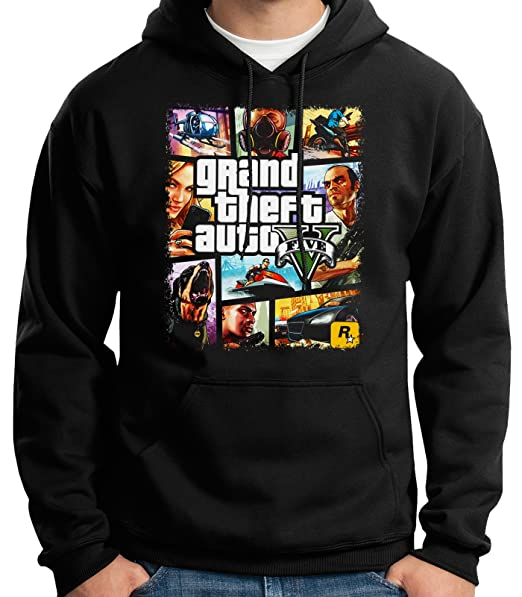 35mm - Sudadera con Capucha - Grand Theft Auto V - Game- Videojuegos - Hoodie