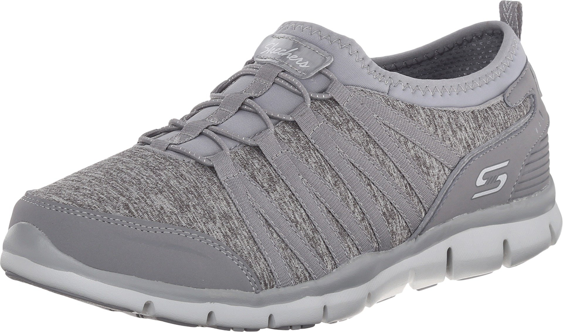 Skechers Women's Gratis Shake It Off Slip-On Sneaker Grey 9 M