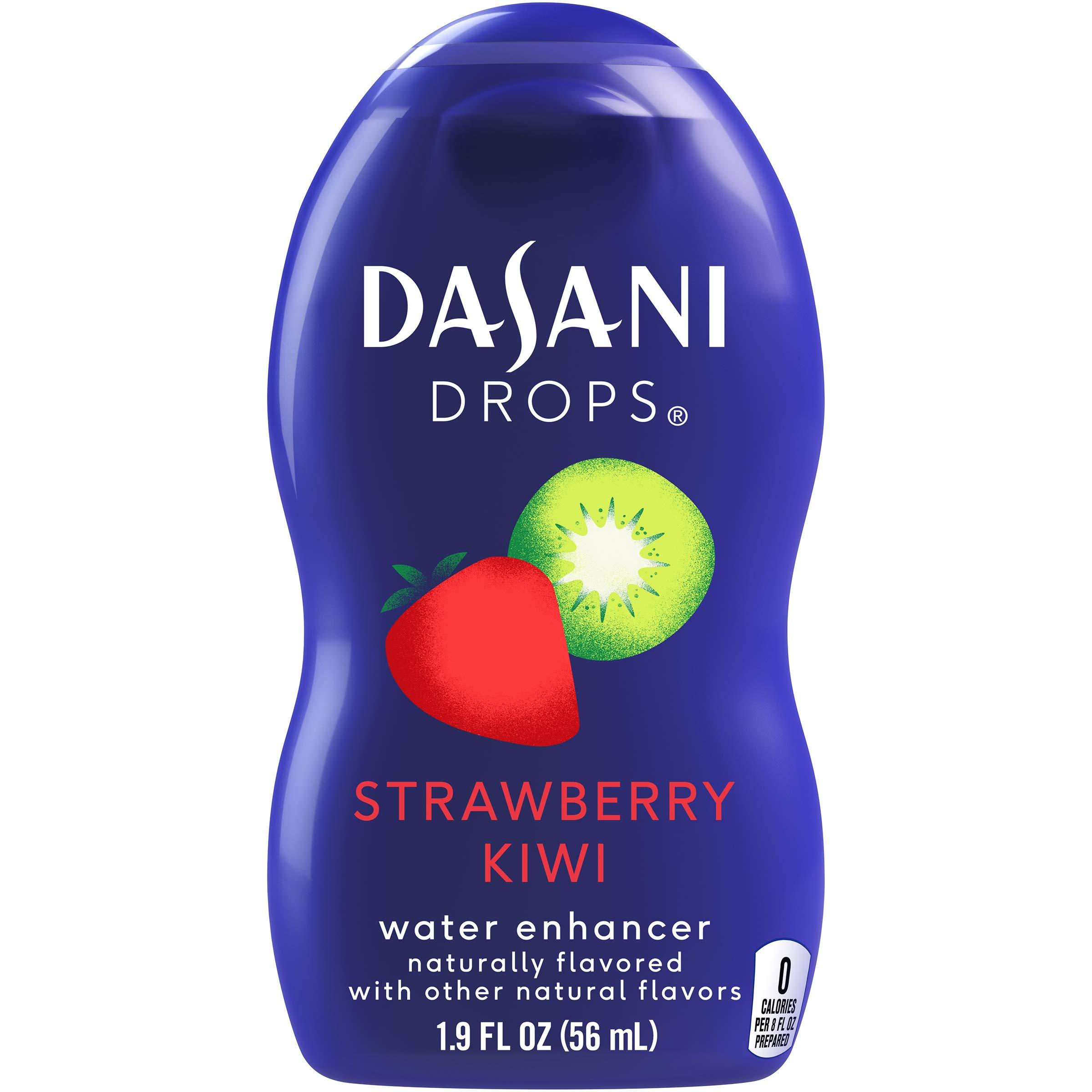 DASANI Drops Strawberry Kiwi Water Flavor Enhancer Drink Mix, 1.9 fl oz (1 bottle) by Dasani