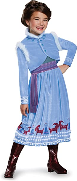 Amazon.com: Disfraz Anna Frozen aventura vestido Deluxe ...