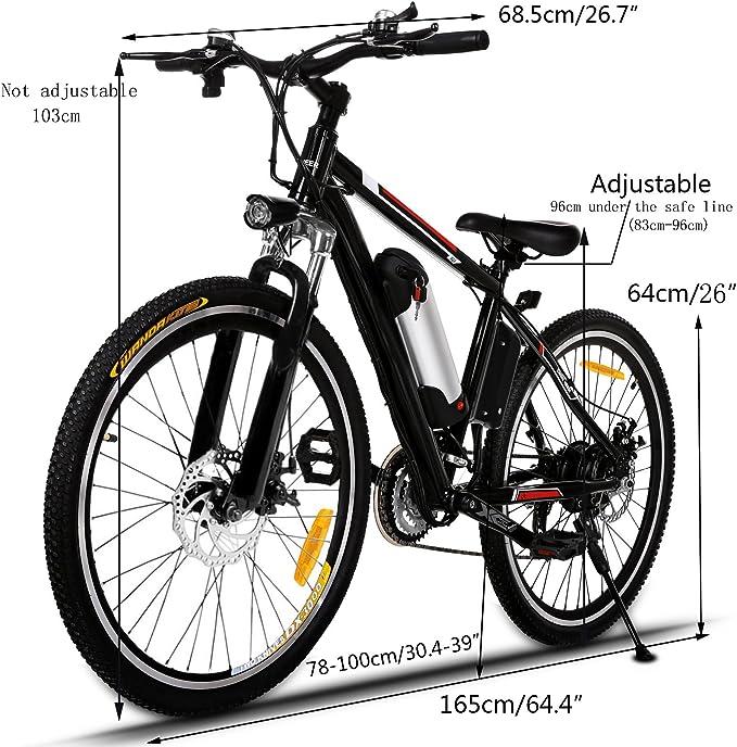 Profun Bicicleta Eléctrica Plegable con Rueda de 26 Pulgadas, Batería de Iones de Litio de Gran Capacidad (36 V 250 W), Suspensión Completa Calidad y Engranaje Shimano (Negro): Amazon.es: Deportes y aire libre