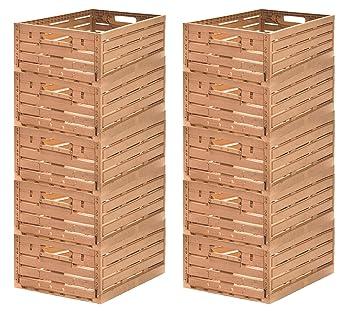 10 Stk fruta caja – Almacenamiento caja madera diseño manzana caja 600 x 400 x 218 Mm invitados Lando: Amazon.es: Industria, empresas y ciencia