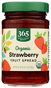 365 by Whole Foods Market, Organic Fruit Spread, Strawberry, 17 Ounce