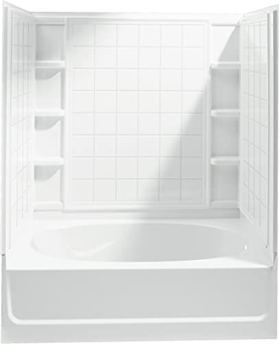 STERLING 71100126-0 Ensemble Bath and Shower Kit, 60-Inch x 36-Inch x 72-Inch, Right-Hand, White
