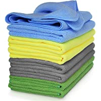 Microfiber Cleaning Cloth, Large Size 40 x 40 cm, Trap Dust & Dirt. Car, Bathroom & Kitchen Cleaning & polishing Towel…