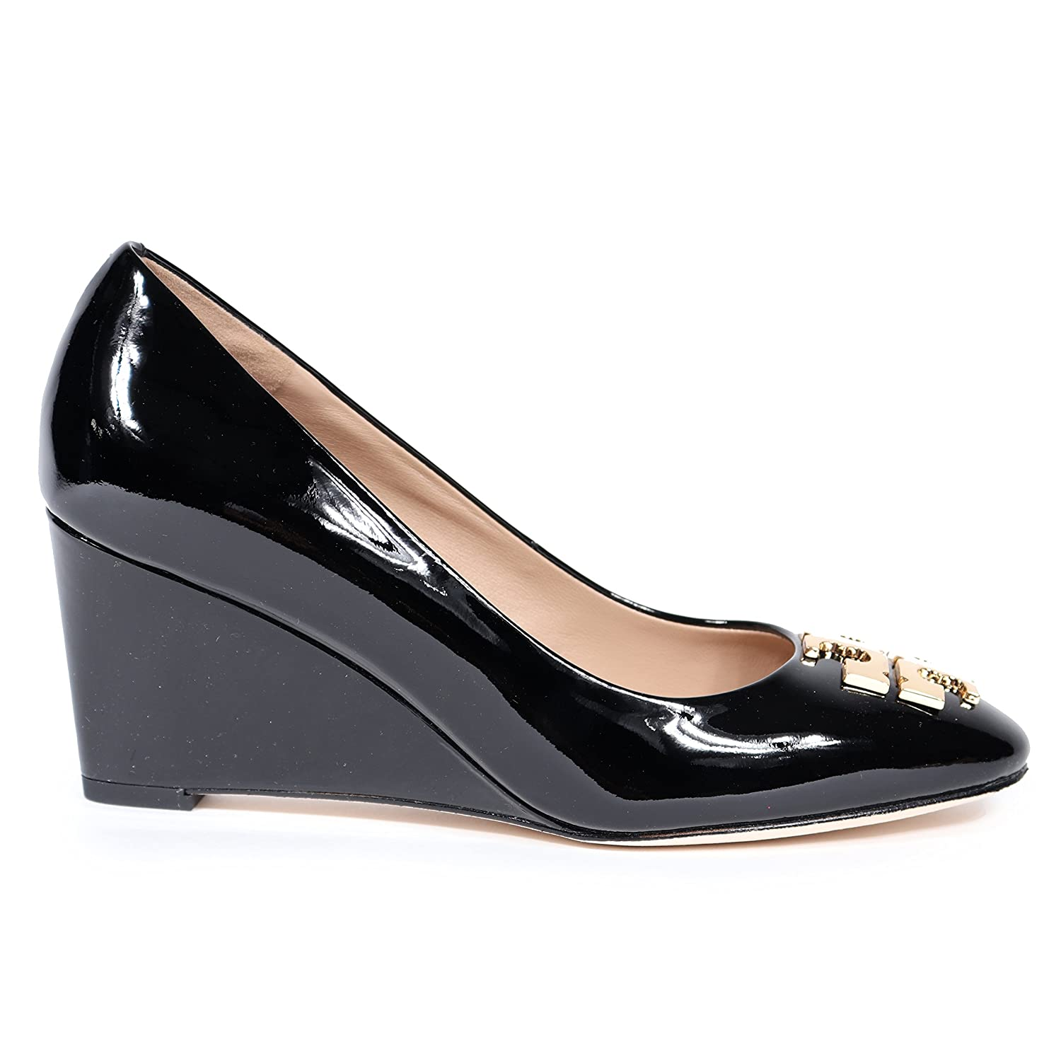 9fde7b848 Tory Burch 36497 001  Raleigh  70MM Wedge Black Patent Leather Pump (Women)  Size 8.5  Amazon.ca  Watches