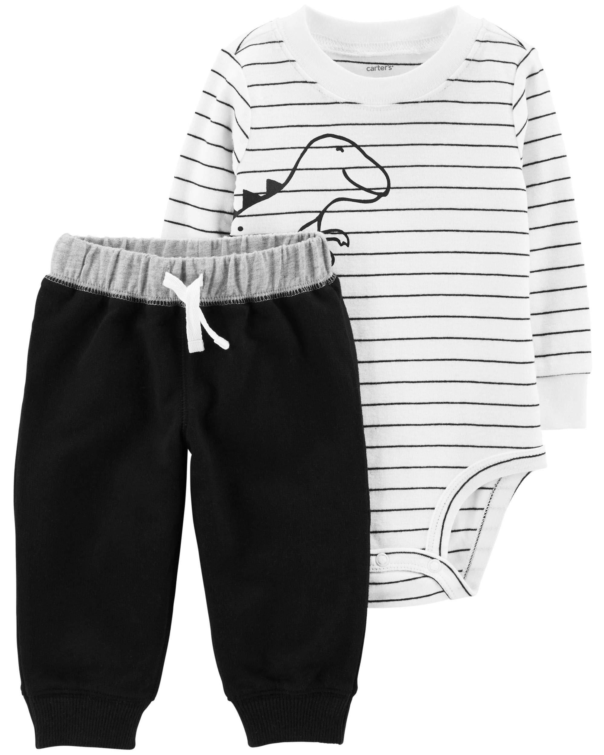 Carter's Baby Boys Bodysuit Pants Set Dinosaur (9M)