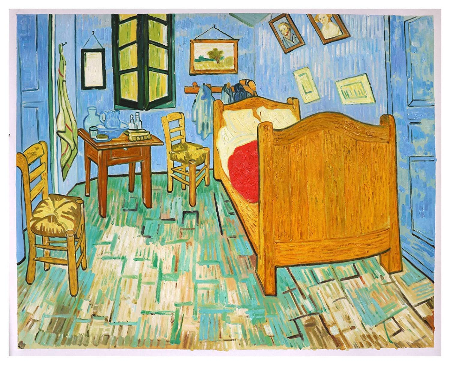 Amazon Com Vincent S Bedroom In Arles 1889 Vincent Van Gogh High Quality Hand Painted Oil Painting Reproduction Bedroom Wall Art Interior Decor Studio Wall Decor Handmade