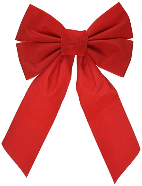 Christmas Ribbon.Good Old Values Red Velvet Christmas Bow 9 Inch X 16 Inch 4 Pack Of Holiday Bows