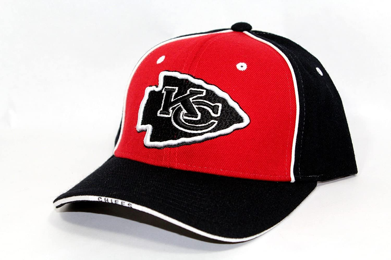 d237e5835a5 Amazon.com   Reebok NFL Kansas City Chiefs HAT CAP adjustable unisex adult  Red Black   Clothing