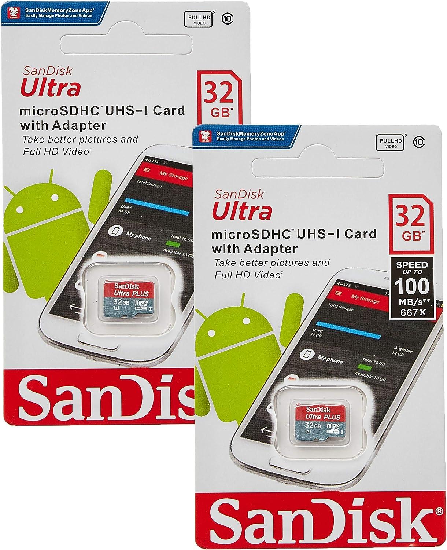 SanDisk 32GB X2 (64GB) MicroSD HC Ultra Uhs-1 Memory Card