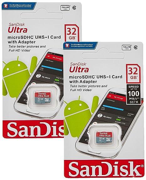 SanDisk 32 GB x2 (64GB) Tarjeta de Memoria microSD HC Ultra ...