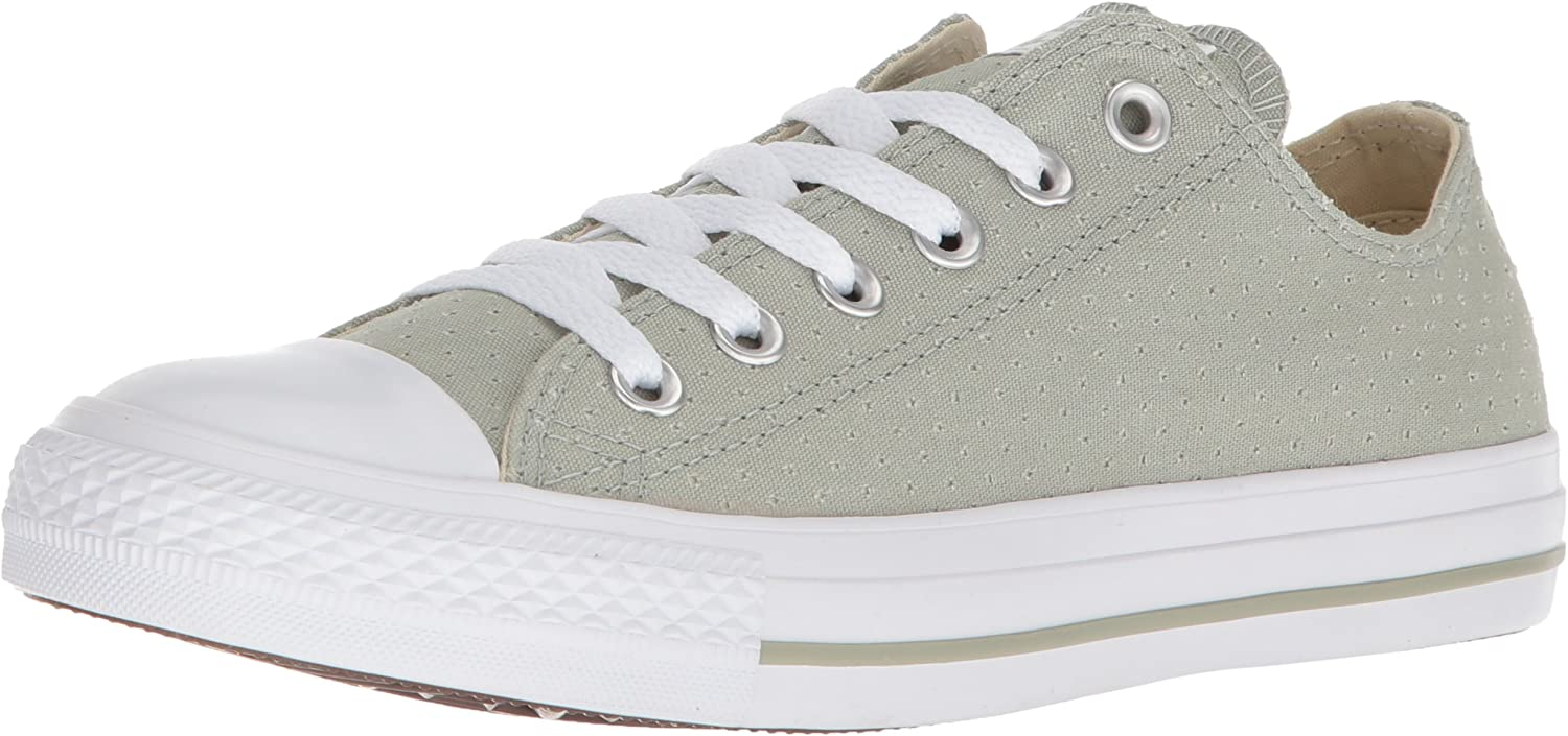 Star Perforated Canvas Low Top Sneaker