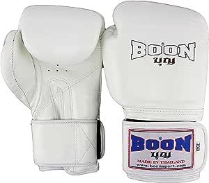 Boon Thai Style Training Gloves-16oz.-White