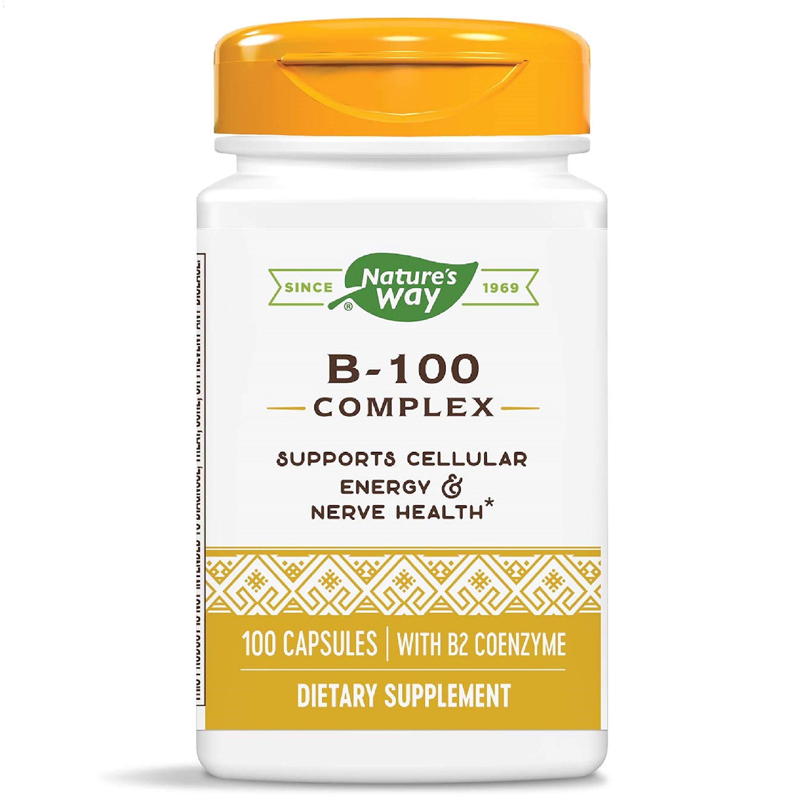 Nature's Way Vitamin B-100 Complex, 100 Capsules