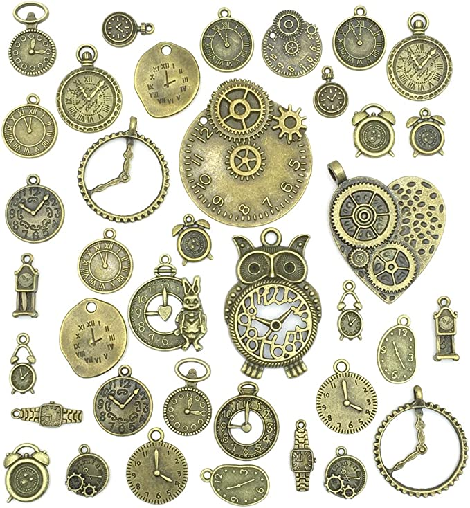 Girl Charm Tibetan Steampunk Antique Bronze 28mm BULK 5 Packs x 20 Charms Crafts