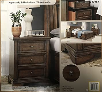 Universal Broadmoore Furniture Dark Wooden Nightstand Bedside Table