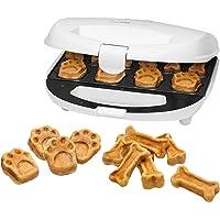 Clatronic DCM 3683 Dog Cookie Maker, inkl. Rezeptvorschläge, Backflächen mit verschiedenen Backmustern, Hundekekse zum Selbstherstellen, Weiß