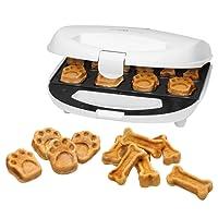 Clatronic DCM 3683Dog Cookie Maker, incluye recetas Propuestas, Back superficies con diferentes backmu Estrella, hundekekse para etiqueta therst Ellen, color blanco