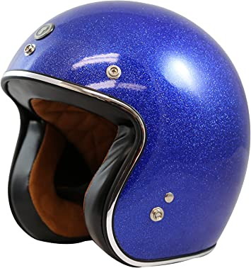 Torc Route 66 T50 Solid Super Flake Rootbeer 3//4 Open Face Helmet Small