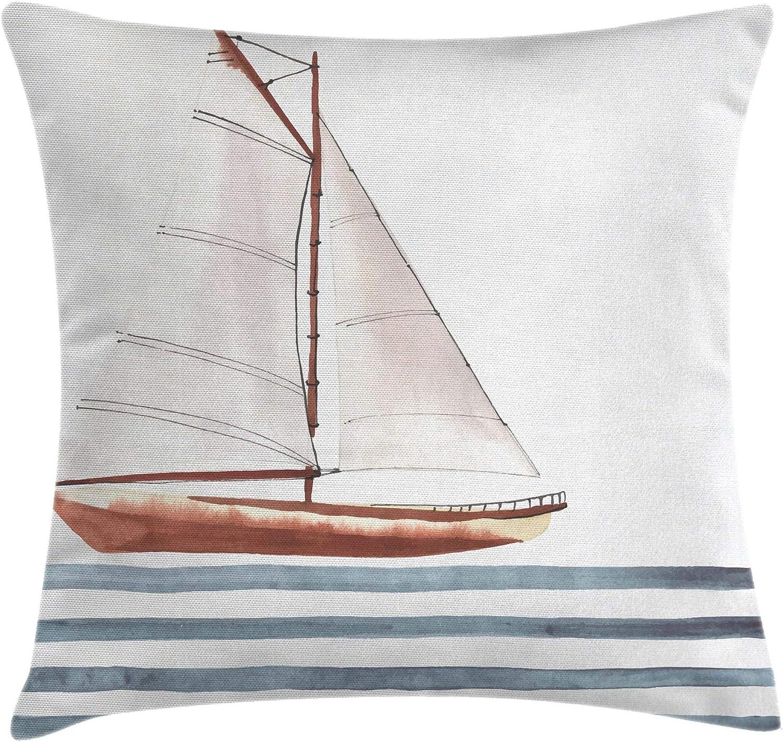 Sail Boat Cushion Cover