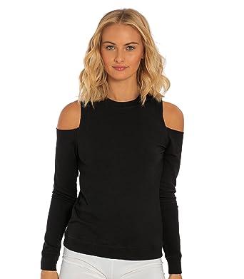 9ed41e73be2bb Miami Style Women s Cold Shoulder Sweatshirt at Amazon Women s ...