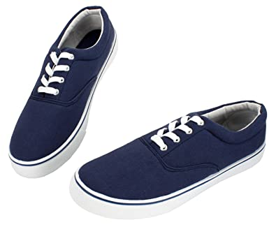 9edaa0ff54 PepStep Canvas Sneakers for Men/Black/White/Navy Mens Canvas Shoes Casual  Low