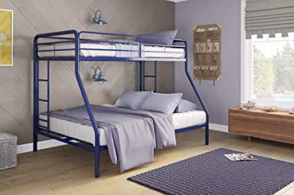 Amazoncom Dhp Twin Over Full Bunk Bed With Metal Frame And Ladder