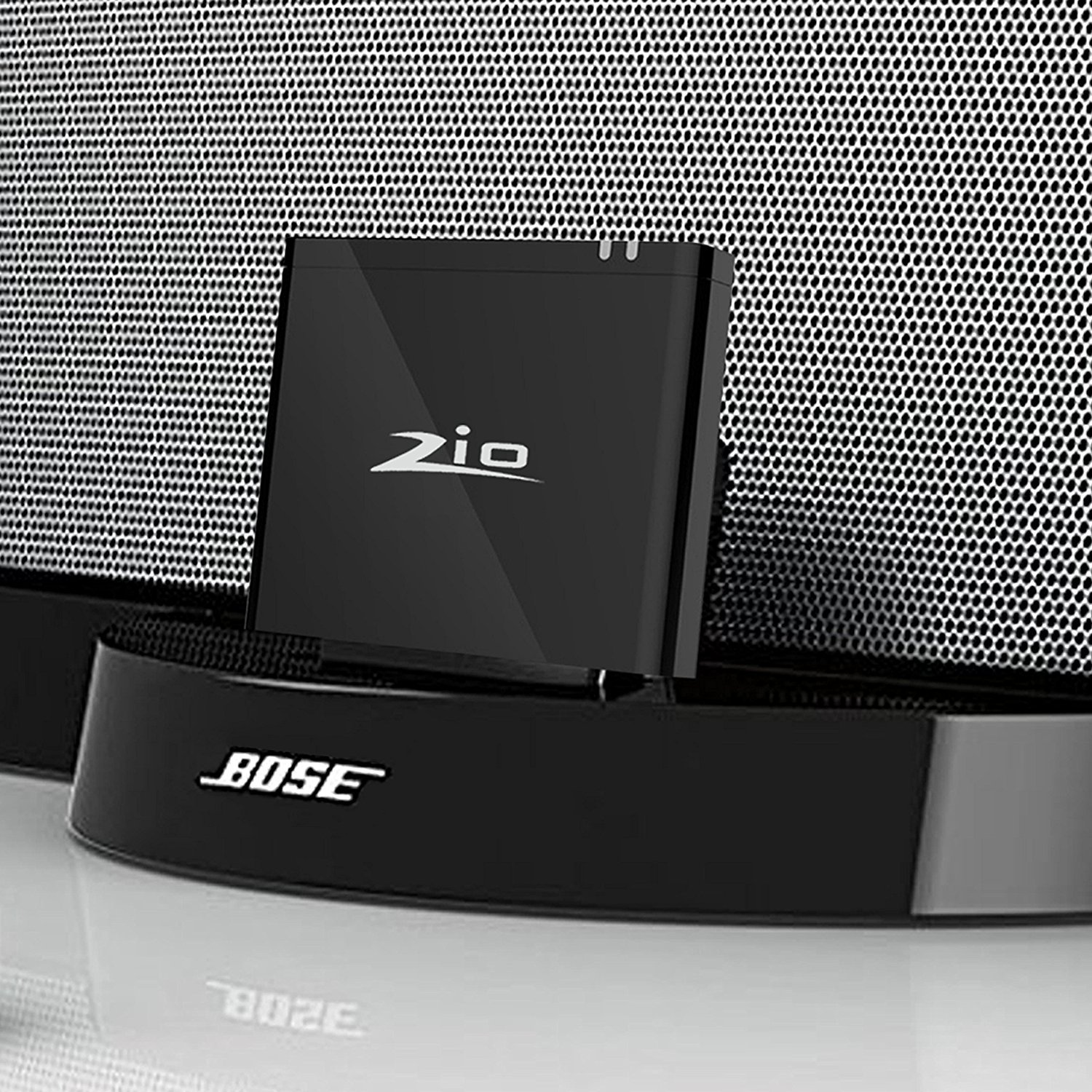 ZIOCOM Bluetooth Audio Adapter Music Receiver with 8 pin Lightning Dock for Bose Sounddock III/XT, JBL MS302GM,Philips DS1155B / 93