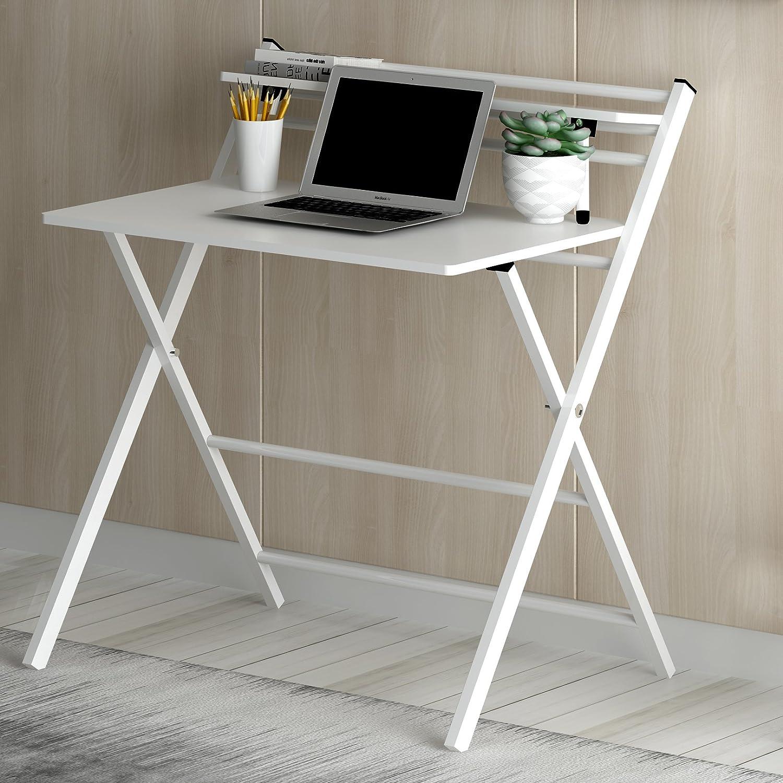 Cherry Tree Furniture New Design Folding Computer Desk Home Office Laptop Desktop Table in Black Colour