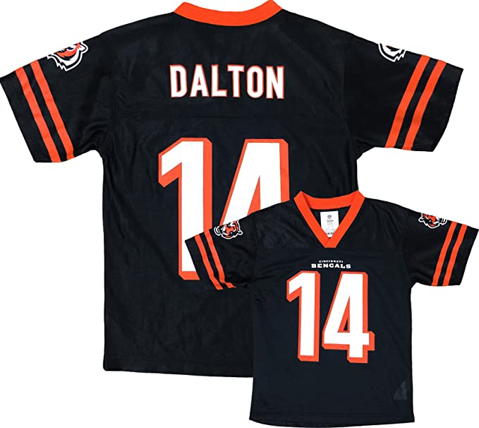 a468bd9ca Outerstuff Andy Dalton Cincinnati Bengals Black Home Player Jersey Youth  (Large 12 14)