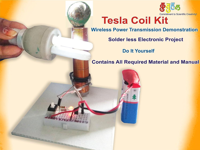 Buy Kutuhal Wireless Transmission Demonstration Tesla Coil Diy Kit Teslawirelesspowercircuitjpg Multicolour Online At Low Prices In India