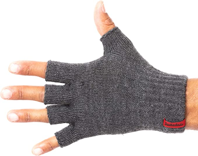 SATINIOR 4 Paar Unisex halbe Finger-Handschuhe Winter-Stretchy Knit Fingerless Typing Handschuhe