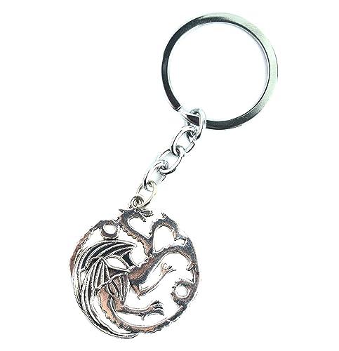 Llavero de dragón de 3 cabezas, sello Targaryen de joyería ...
