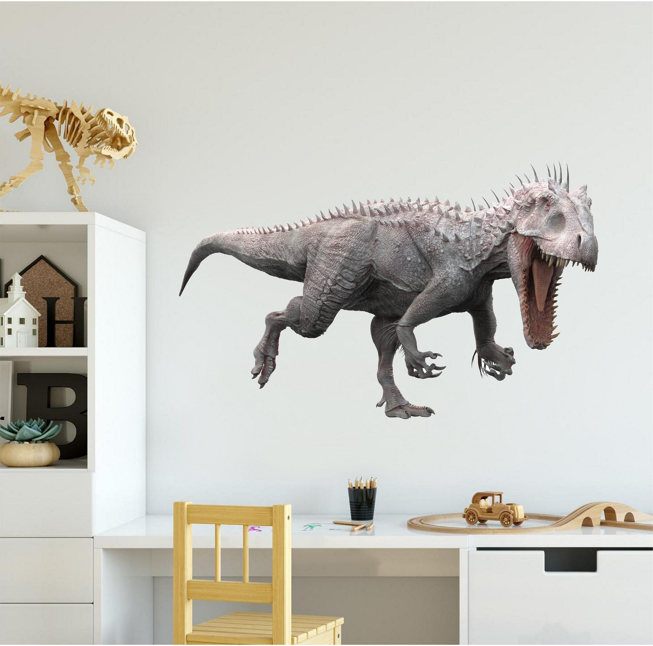 48'' Indominus Rex 3D Dinosaur HUGE Wall Sticker Decal Removable Fabric Vinyl Home Kids Boys Bedroom Decor Birthday Gift Game Room Man Cave Garage Art Decor
