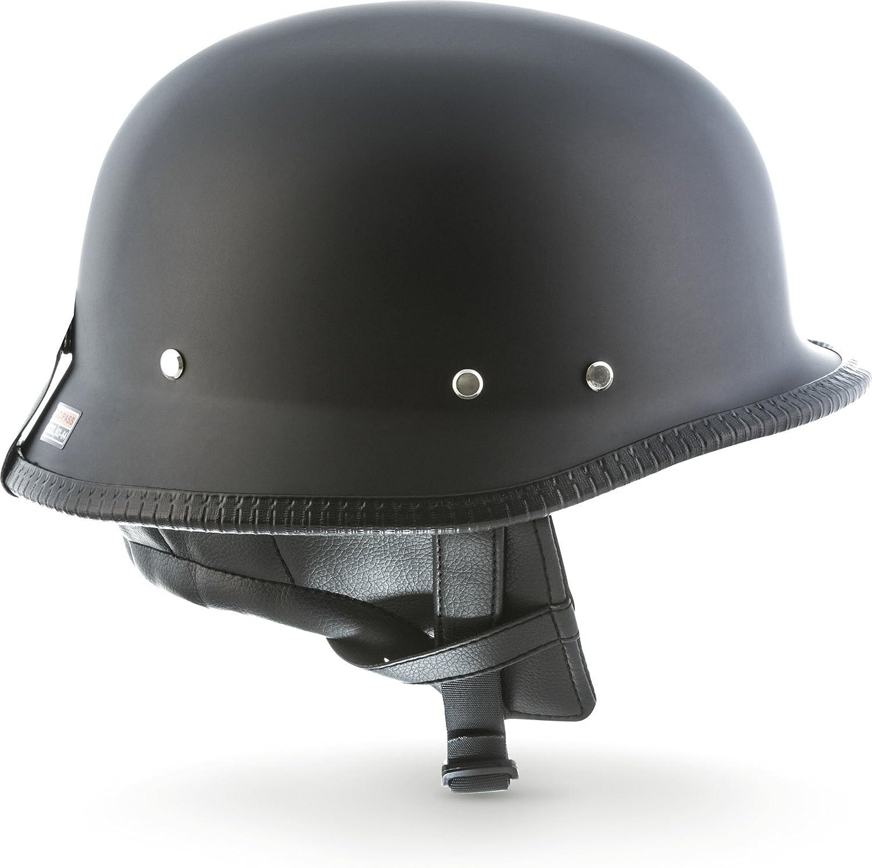 "55-56cm MOTOHelmets/® D33 /""Army Snow/"" /· Brain-Cap /· Halbschale Jet-Helm Motorrad-Helm Roller-Helm Scooter-Helm Bobber Mofa-Helm Chopper Retro Cruiser Vintage Pilot Biker /· Schnellverschluss Tasche S"