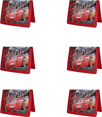 Black Brand New Disney Pixar Cars Wallet Lightning Strikes Tri Fold Kids NWT
