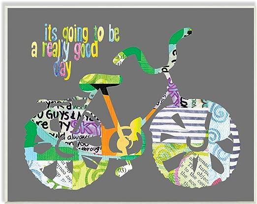 Stupell Home Decor Collection va a ser un Buen día para Bicicleta ...