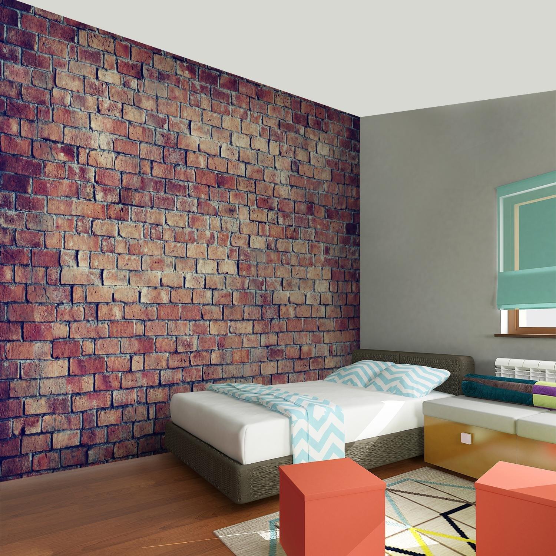 Fototapete Ziegelmauer 3D Braun 396 X 280 Cm Vlies Wand Tapete Wohnzimmer  Schlafzimmer Büro Flur Dekoration ...