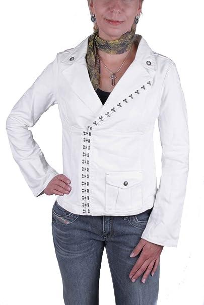 Diesel Mujer Chaqueta Blazer Bricopy Giacca Blanco - algodón ...