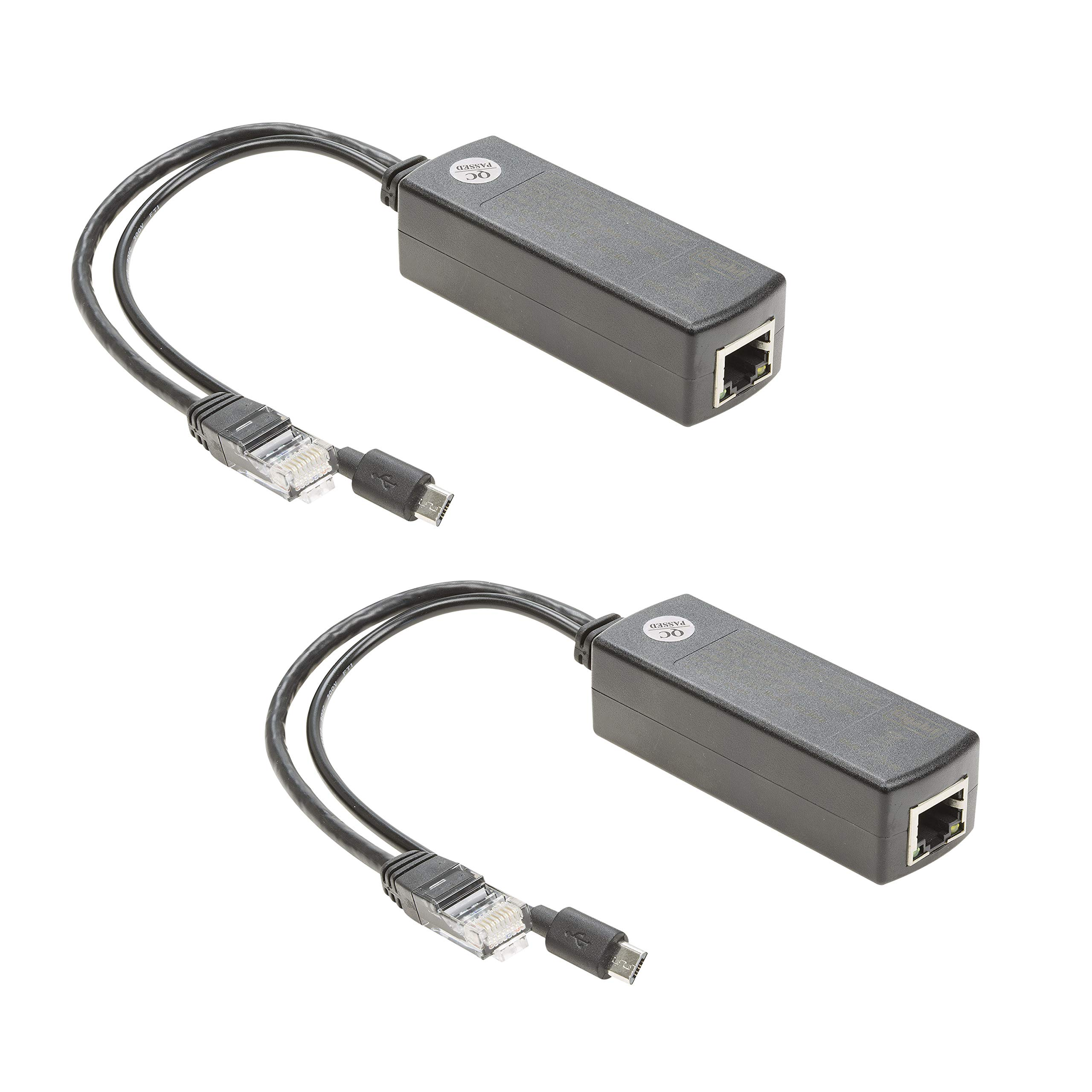 UCTRONICS for Raspberry Pi PoE Splitter 5V [2-Pack] - Active PoE to Micro USB Adapter, IEEE 802.3af Compliant, for Tablets, Dropcam and Raspberry Pi 2/3, and More by UCTRONICS