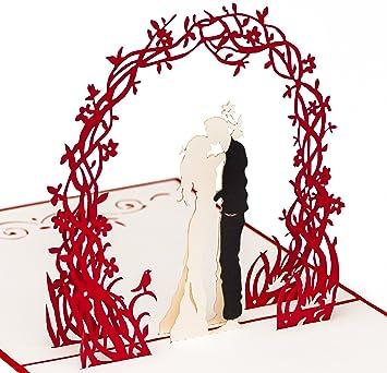 Valentinstag Karte Paar Unter Blumenkranz 3d Pop Up Karte