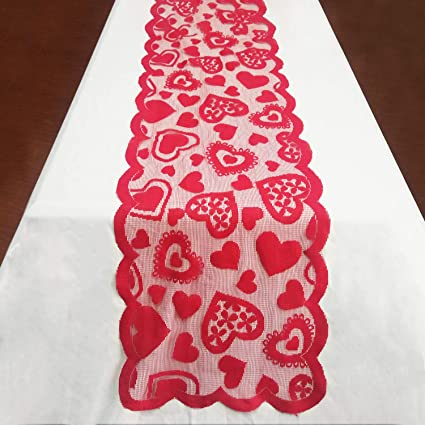 Amazon Com Yardom Valentine S Day Table Runner 13 X 72 Inch Long