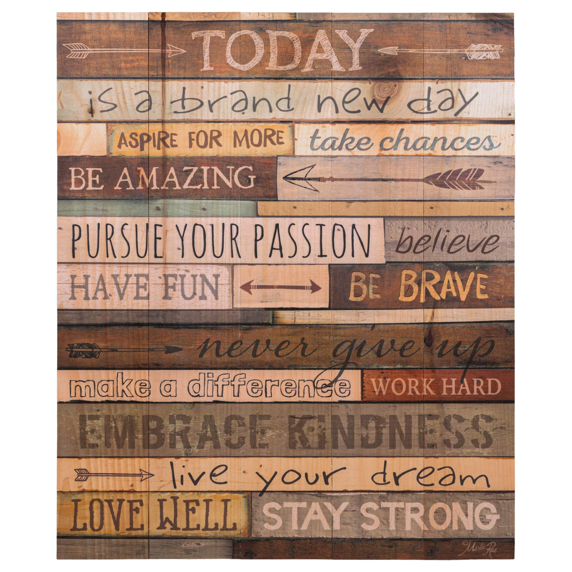 Today is a Day Inspirational Phrases 21 x 18 Wood Pallet Wall Art Sign Plaque by P. Graham Dunn