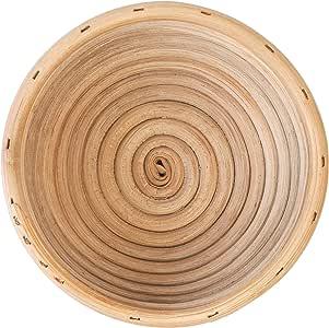 (16cm) Round Sourdough Bread Dough Proofing Banneton Basket/Brotform Basket - 100% Natural Rattan Cane Weave