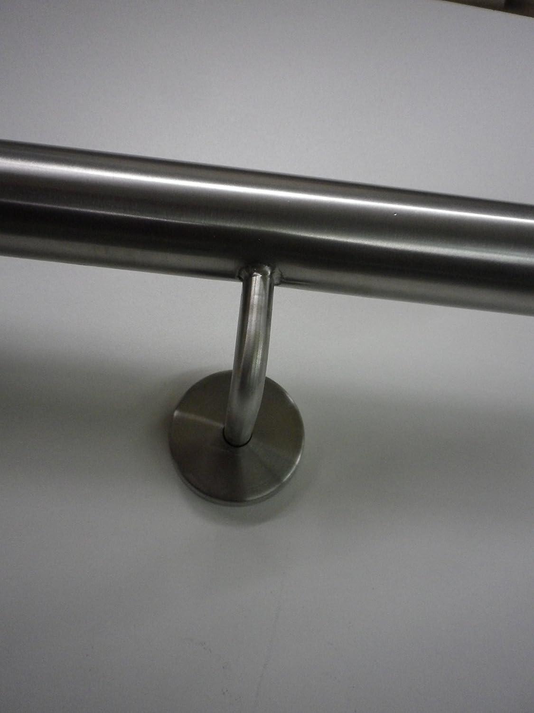 Edelstahlhandlauf Modell TIBU-Line /Ø 42,4mm 2000mm lang mit 3 Edelstahlhaltern