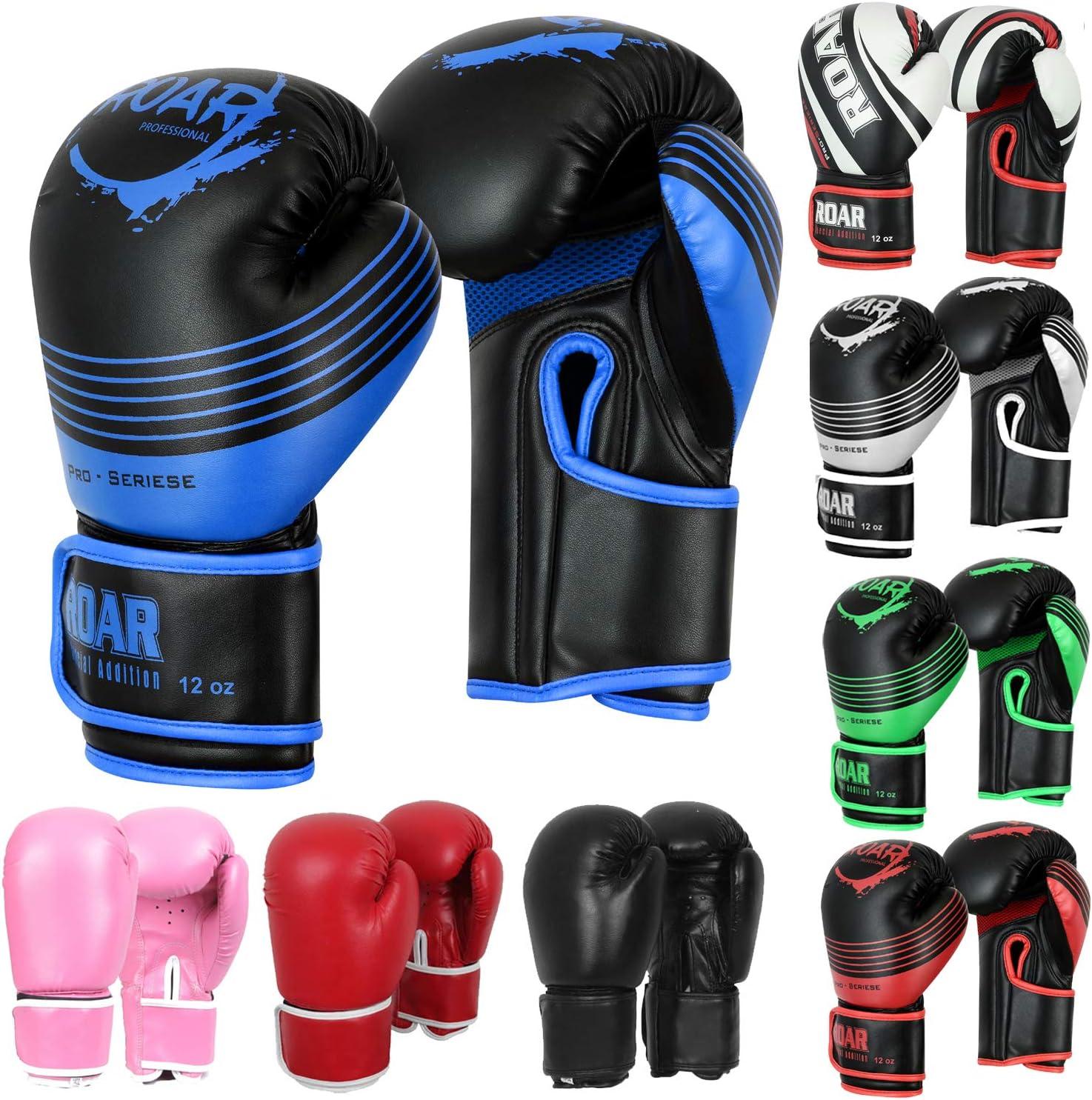 MMAゲルボクシンググローブPunchingトレーニングバッグMitts Muay Thai Kickboxingジム手袋 ブルー/ブラック 10oz