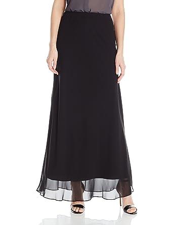 43ca781a77 Alex Evenings Women's Long A-line Chiffon Skirt at Amazon Women's ...