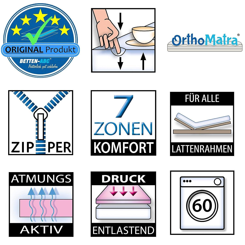 OrthoMatra KSP-2000 Royal Kaltschaummatratze mit komfortablen 7 7 7 Zonen und Klimafaserbezug - Grösse 200x200 - Härtegrad H3 f954d9